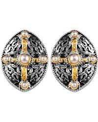 Konstantino | Pearl Classics Shield Earrings | Lyst