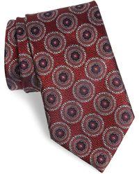 1fb9a4f5 Medallion Silk Tie - Red