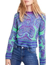 Free People - New Age Crewneck Sweater - Lyst