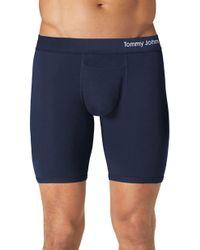 Tommy John Cool Cotton Boxer Briefs - Blue