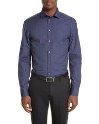 Armani - Armani Collezioni Regular Fit Pinstripe Sport Shirt - Lyst