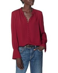 Joie Tariana Silk Blouse - Red