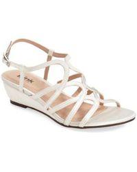 Paradox London Pink - 'opulent' Wedge Sandal - Lyst