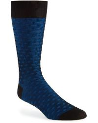 Pantherella - Diamond Crew Socks - Lyst