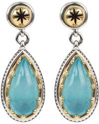 Konstantino Astria Aquamarine Drop Earrings - Metallic