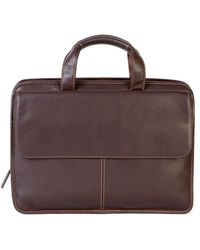 Boconi - Tyler Leather Briefcase - Lyst