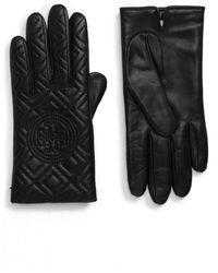 Tory Burch Fleming Gloves - Black