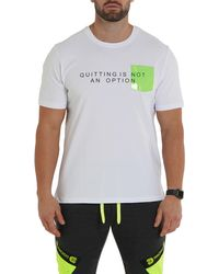 Maceoo Quitting Is Not An Option Graphic Tee - White