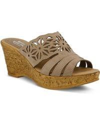 Spring Step Dora Wedge Sandal - Natural