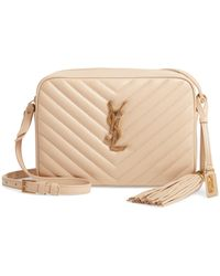Saint Laurent - Medium Monogramme Lou Satchel Bag - Lyst