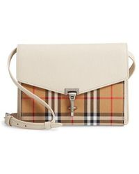 Burberry - Small Macken Vintage Check Crossbody Bag - - Lyst