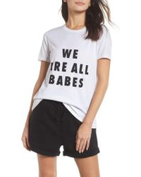 BRUNETTE the Label - We Are All Babes Tee - Lyst