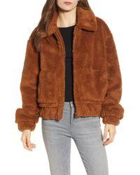 Thread & Supply Northy Faux Fur Jacket - Brown