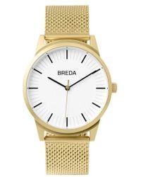 Breda - Bresson Mesh Strap Watch - Lyst