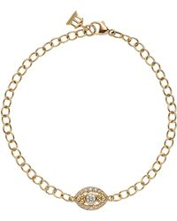 Temple St. Clair - Temple St. Clair Diamond Evil Eye Line Bracelet - Lyst