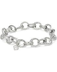 David Yurman Cable Collectives Oval Link Charm Bracelet - Metallic