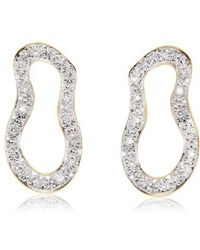 Monica Vinader | Riva Pod Diamond Drop Earrings | Lyst