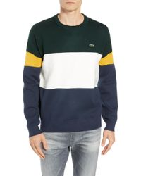 Lacoste - Regular Fit Colorblock Cotton Sweater - Lyst