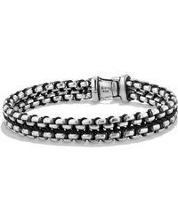 David Yurman Chain Collection Sterling Silver Bracelet - Black
