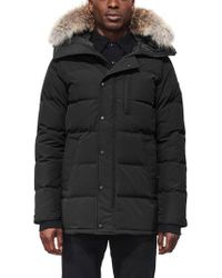 Canada Goose - 'carson' Slim Fit Hooded Packable Parka With Genuine Coyote Fur Trim - Lyst