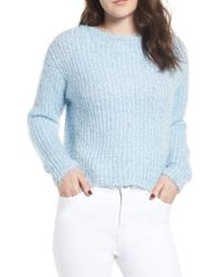 Love By Design - Eyelash Chenille Distressed Sweater - Lyst