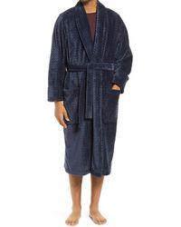 Nordstrom Plush Jacquard Robe - Blue