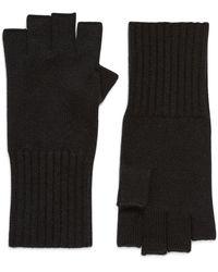 Halogen Halogen Cashmere Fingerless Gloves - Black