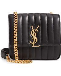 0523f2f78a33 Lyst - Saint Laurent Medium Universite Leather Crossbody Bag in Black