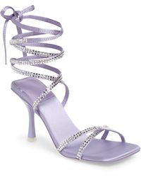 Jeffrey Campbell Jeffery Campbell Shimmer Strappy Ankle Tie Sandal - Purple