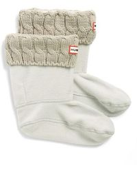 HUNTER - Original Short Cable Knit Cuff Welly Boot Socks - Lyst