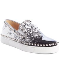 d3d3a406480 Lyst - Christian Louboutin Roller Boat Sneakers in Pink
