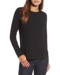 Eileen Fisher - Crewneck Top - Lyst