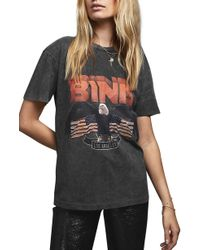 Anine Bing Vintage Bing Cotton T-shirt - Black