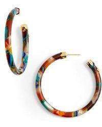 Gas Bijoux - Rainbow Mix Open Hoop Earrings - Lyst