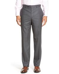 David Donahue Ryan Classic Fit Solid Wool Suit - Blue