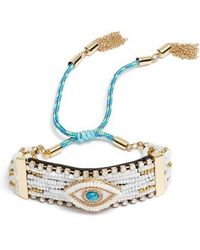 Rebecca Minkoff | Evil Eye Statement Bead Bracelet With Turquoise | Lyst