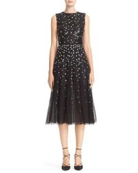 Carolina Herrera - Degrade Sequin Silk Midi Dress - Lyst