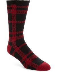 Nordstrom Nordstrom Mens Shop Plaid Butter Socks - Red