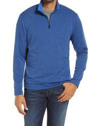 Robert Graham Gareth Quarter Zip Pullover - Blue