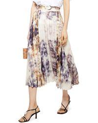 TOPSHOP Tie Dye Midi Skirt - Multicolour