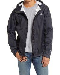 The North Face Venture 2 Hooded Waterproof Rain Jacket - Black