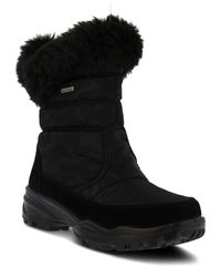 Spring Step - Korine Waterproof Faux Fur Bootie - Lyst