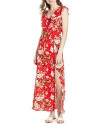 Soprano Ruffle Maxi Dress - Red