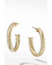 David Yurman - Cable Loop Hoop Earrings - Lyst