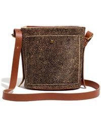 Madewell The Small Transport Bucket Bag: Spotted Calf Hair Edition - Brown