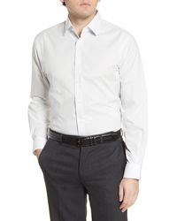 Nordstrom Traditional Fit Non-iron Stretch Dress Shirt - White