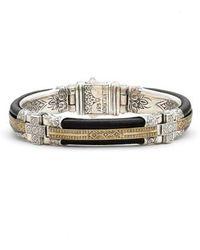 Konstantino - Byzantium Etched Sterling Silver Bracelet - Lyst