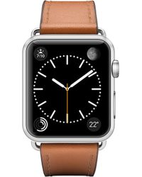Casetify Double Tour Leather Apple Watch Strap - Black