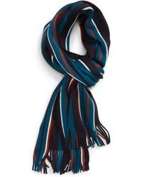 Ted Baker Muster Stripe Scarf - Blue