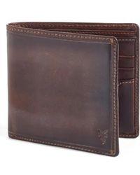 Frye - 'logan' Leather Billfold Wallet - Lyst